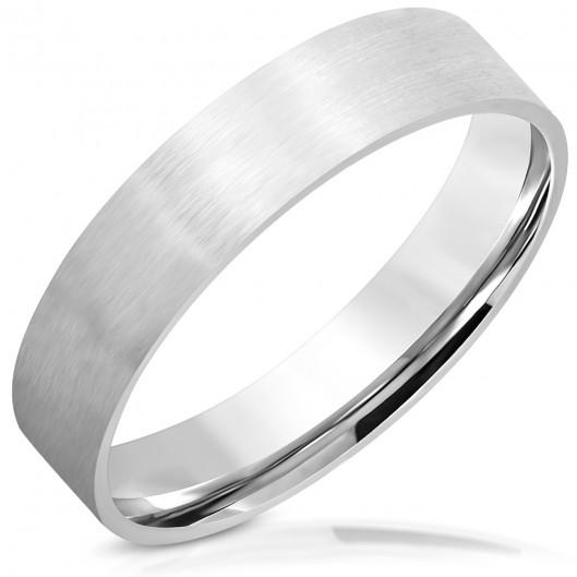 Ocelový prsten matný, šíře 5 mm