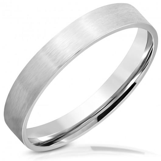 Ocelový prsten matný, šíře 3,5 mm