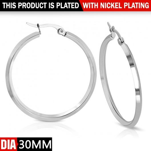 Ocelové náušnice - kruhy 30 mm