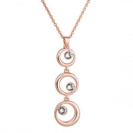 Náhrdelník bižuterie se Swarovski krystaly čirý 3 kruhy 52014.1 krystal au