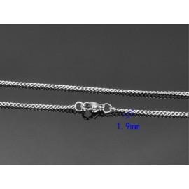 Ocelový řetízek, tl. 1,9 mm, délka 60 cm