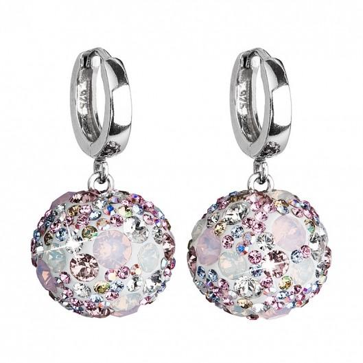 Stříbrné náušnice s krystaly Crystals from Swarovski® 42c62a9c312