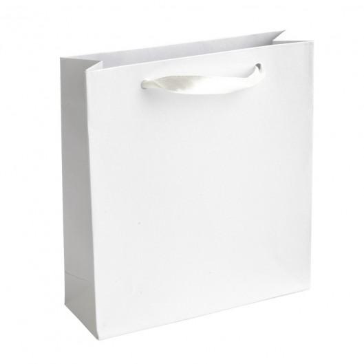 Malá dárková taška perleťově bílá