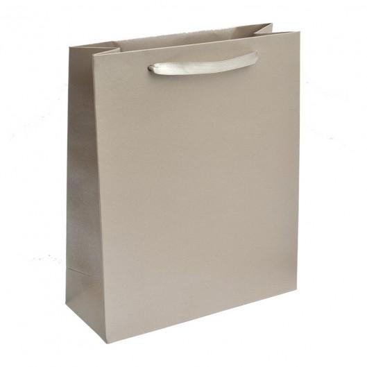 Malá dárková taška perleťově krémová
