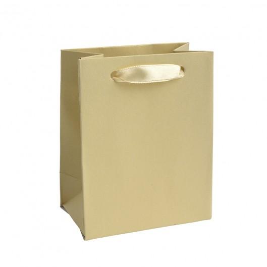 Mini dárková taška perleťově žlutá
