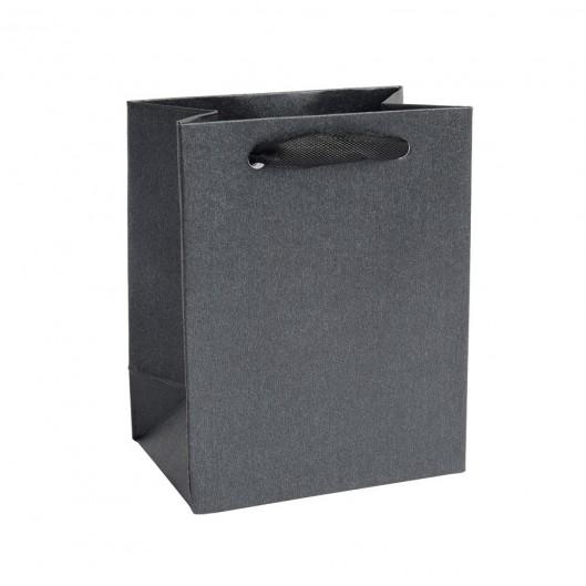 Mini dárková taška perleťově černá