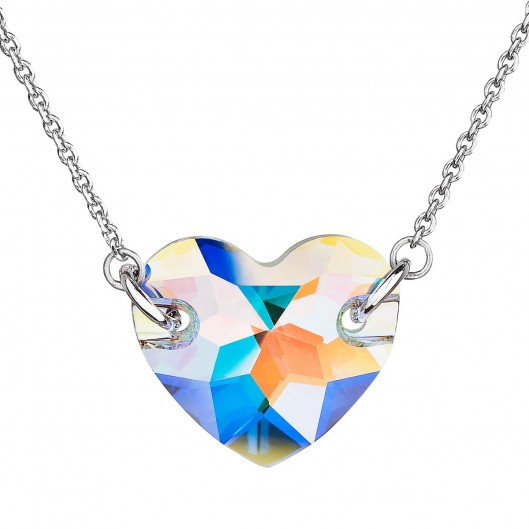 Stříbrný náhrdelník srdce Crystals from Swarovski® AB