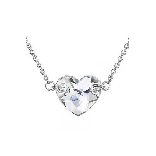 Stříbrný náhrdelník srdce Crystals from Swarovski® Crystal