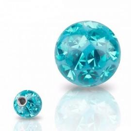 Náhradní kulička s krystaly Swarovski®, 10 mm, závit 1,6 mm