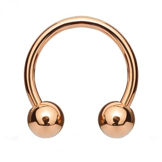 Piercing podkova, barva růžové zlato, 1,6 mm