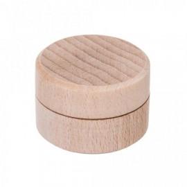 Kulatá dřevěná krabička, průměr 40 mm