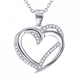 Stříbrný řetízek s přívěškem srdce