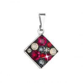 Přívěsek bižuterie se Swarovski krystaly červený kosočtverec 54020.3