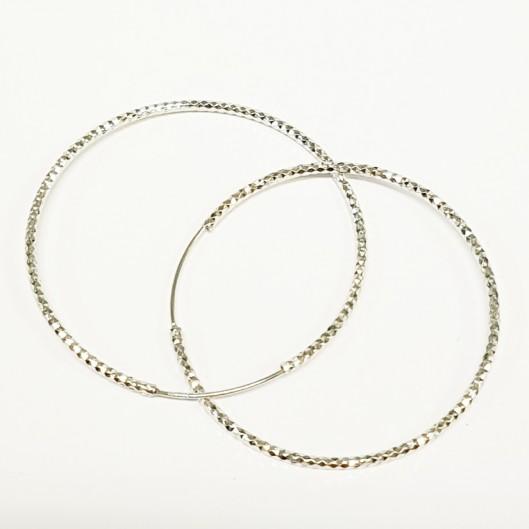 Stříbrné náušnice kruhy 60 mm