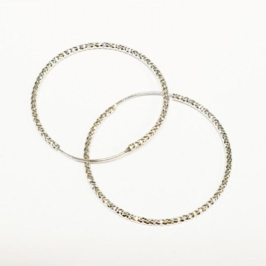 Stříbrné náušnice kruhy 40 mm