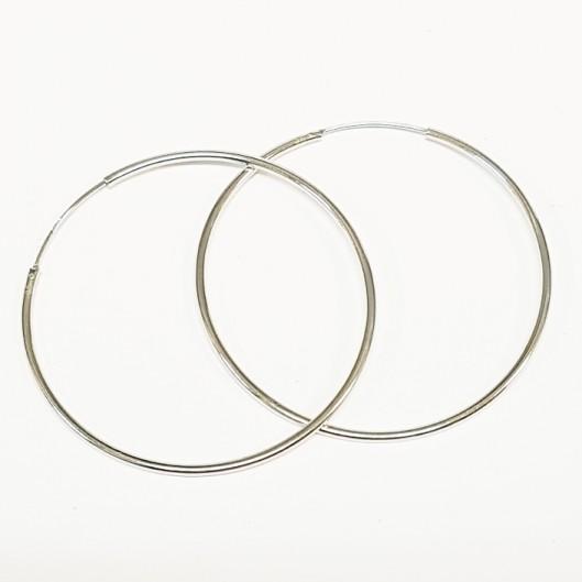Stříbrné náušnice kruhy 50 mm