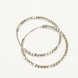 Stříbrné náušnice kruhy 30 mm