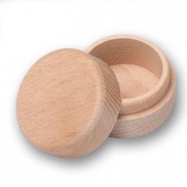 Kulatá dřevěná krabička