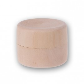 Kulatá dřevěná krabička, průměr 50 mm