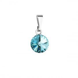 Přívěsek bižuterie se Swarovski krystaly modrý kulatý 54018.3 turquoise