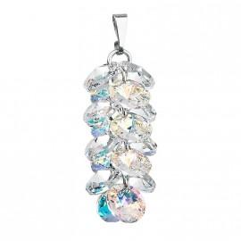 Stříbrný přívěšek hrozen Crystals from Swarovski® AB