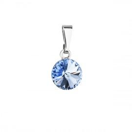 Přívěsek bižuterie se Swarovski krystaly modrý kulatý 54018.3 sapphire