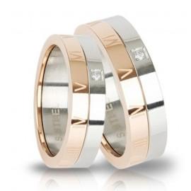 Snubní prsteny chirurgická ocel 1 pár TRSM02