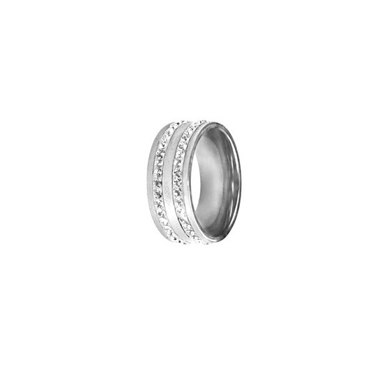 Prsten chirurgická ocel s krystaly Swarovski RSSW08 cz 4e66b60300e