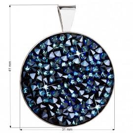 Stříbrný přívěšek ROCKS Crystals from Swarovski® Bermuda Blue