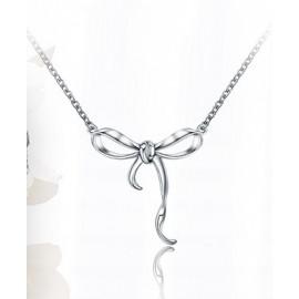 Stříbrný náhrdelník mašlička