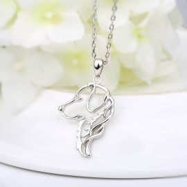 Stříbrný náhrdelník retrívr