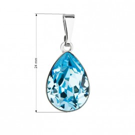 Přívěsek bižuterie se Swarovski krystaly modrá slza 54016.3 aqua