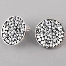 Puzetové nušnice s krystaly Crystals from Swarovski® 15 mm , CRYSTAL CAL