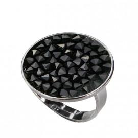 Prsten s krystaly Crystals from Swarovski® BLACK JET