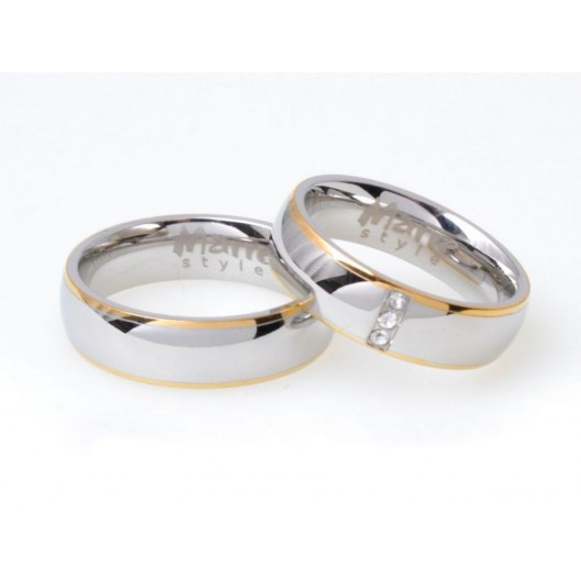 Snubní prsteny chirurgická ocel MAR007