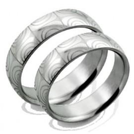 Snubní prsteny chirurgická ocel 1 pár ASR298
