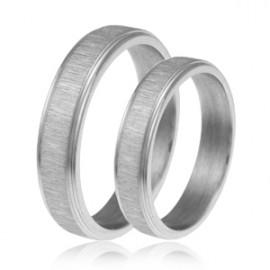 Snubní prsteny chirurgická ocel 1 pár ASR261