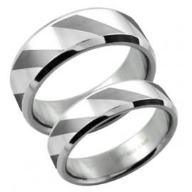 Snubní prsteny chirurgická ocel 1 pár ASR301
