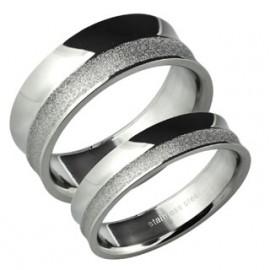Snubní prsteny chirurgická ocel 1 pár ASR300
