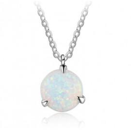 Stříbrný náhrdelník s bílým opálem