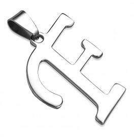 Ocelový přívěšek - písmeno - iniciála F