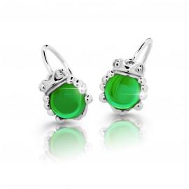 Cutie Jewellery Dětské naušnice Cutie C3758-B Green