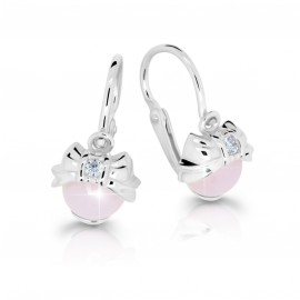 Cutie Jewellery Dětské naušnice Cutie C3845-B Pink Opal Cabochon