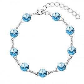 Náramek bižuterie se Swarovski krystaly modrý 53001.3 aqua