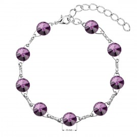 Náramek bižuterie se Swarovski krystaly fialový 53001.3 amethyst