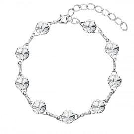 Náramek bižuterie se Swarovski krystaly bílý 53001.1