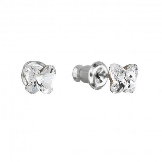 91cc011af78 Náušnice bižuterie se Swarovski krystaly bílý motýl 51049.1