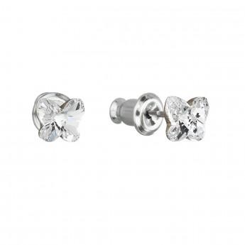 Náušnice bižuterie se Swarovski krystaly bílý motýl 51049.1