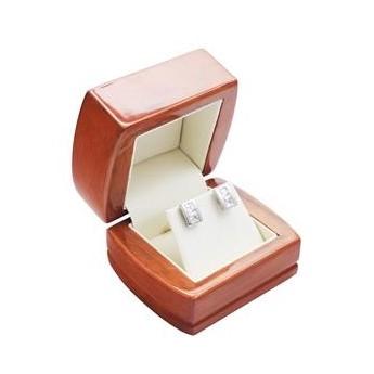 Dřevěná dárková krabička na náušnice nebo řetízek