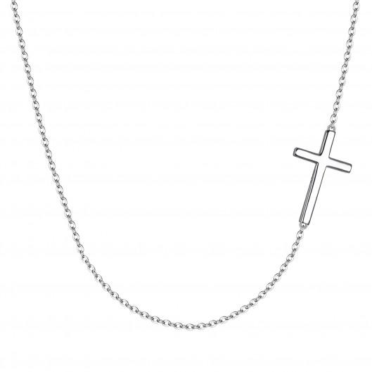 Stříbrný řetízek s bočním křížkem